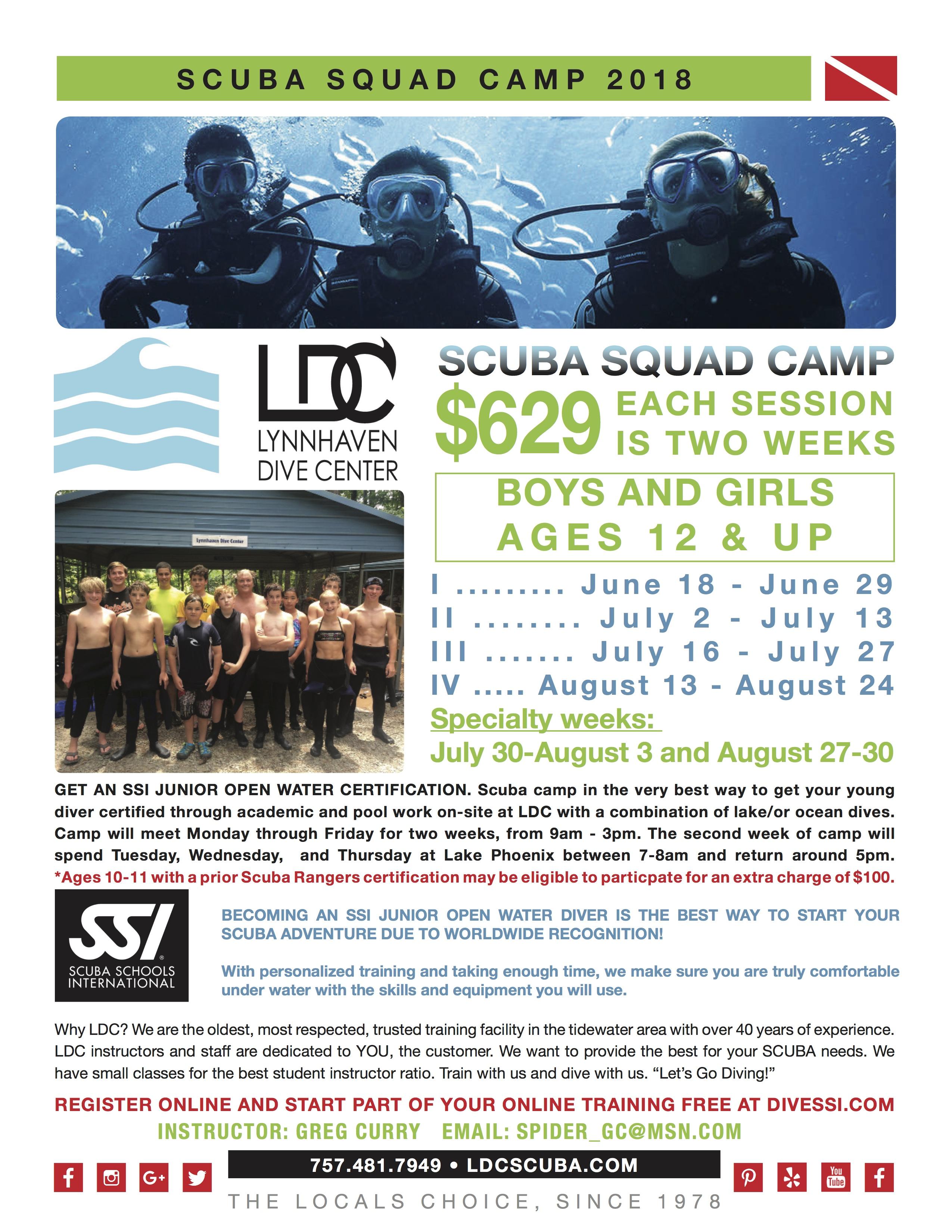Summer Camps Lynnhaven Dive Center